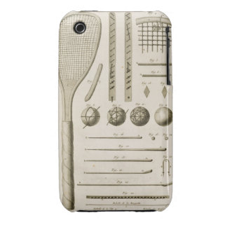 Tennis Racquets and Billiard Cues, from the 'Encyc iPhone 3 Case