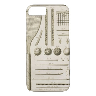Tennis Racquets and Billiard Cues, from the 'Encyc iPhone 8/7 Case