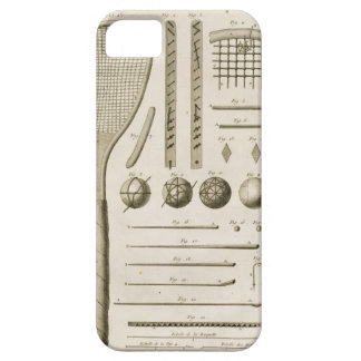 Tennis Racquets and Billiard Cues, from the 'Encyc iPhone SE/5/5s Case