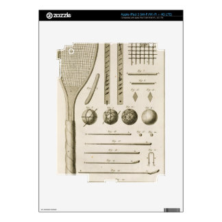 Tennis Racquets and Billiard Cues, from the 'Encyc Skin For iPad 3