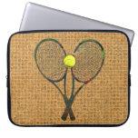 TENNIS RACQUETS & BALL Laptop Sleeve