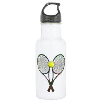 TENNIS RACQUETS & BALL Waterbottle 18oz Water Bottle