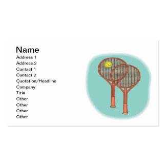 Tennis Racquets Double-Sided Standard Business Cards (Pack Of 100)