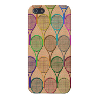 TENNIS RACQUETS IN COLOR 4  iPhone SE/5/5s COVER