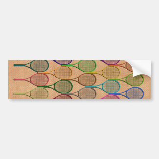 TENNIS RACQUETS IN COLOR Bumper Sticker