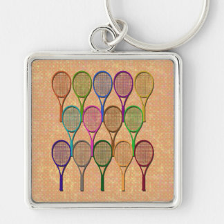 TENNIS RACQUETS IN COLOR Keychain