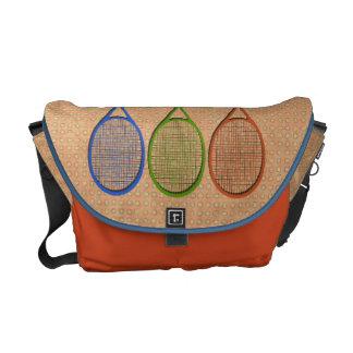 TENNIS RACQUETS IN COLOR Messenger Bag