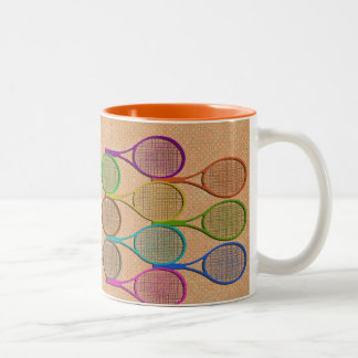 TENNIS RACQUETS IN COLOR Mug