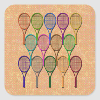 TENNIS RACQUETS IN COLOR Sticker