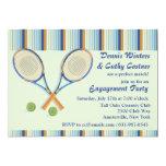"""Tennis Racquets Invitation 5"""" X 7"""" Invitation Card"""