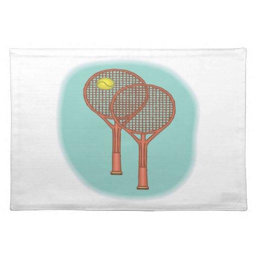 Tennis Racquets Placemat