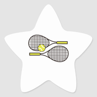 TENNIS RACQUETS STAR STICKER