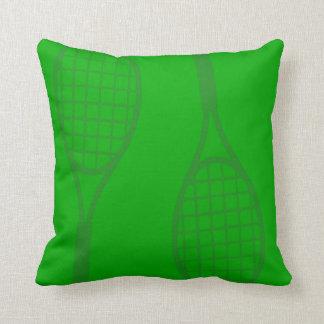 Tennis Racquets Throw Pillow