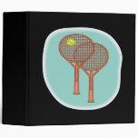 Tennis Racquets Vinyl Binder