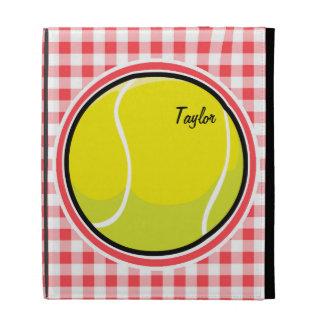 Tennis Red and White Gingham iPad Folio Case