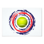 Tennis Red Blue And White Announcement