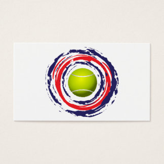 Tennis Red Blue And White Business Card