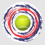 Tennis Red Blue And White Sticker