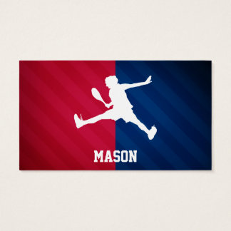 Tennis; Red, White, and Blue Business Card