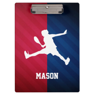 Tennis; Red, White, and Blue Clipboard
