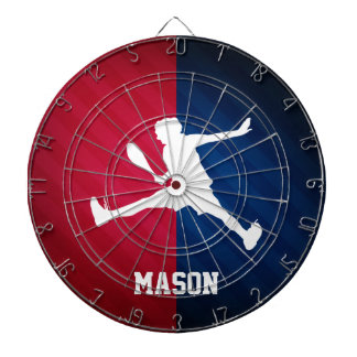 Tennis; Red, White, and Blue Dartboard With Darts