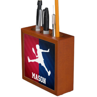 Tennis; Red, White, and Blue Pencil/Pen Holder