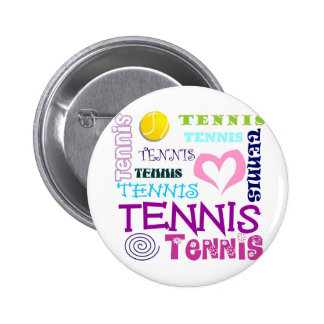 Tennis Repeating 2 Inch Round Button