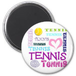 Tennis Repeating 2 Inch Round Magnet