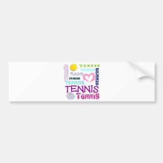 Tennis Repeating Bumper Sticker