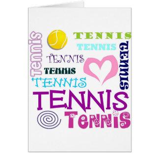 Tennis Repeating Card