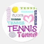Tennis Repeating Classic Round Sticker