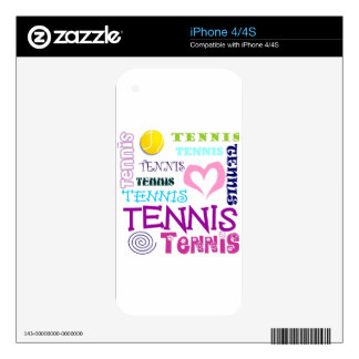 Tennis Repeating Skin For iPhone 4