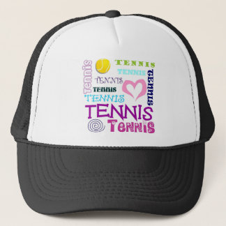 Tennis Repeating Trucker Hat