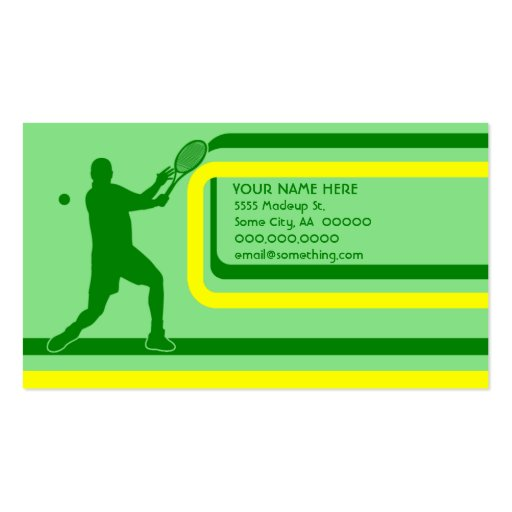 tennis : retro style : business card