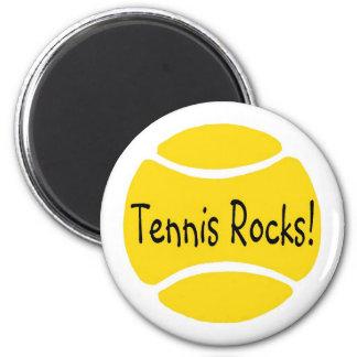 Tennis Rocks 2 Inch Round Magnet