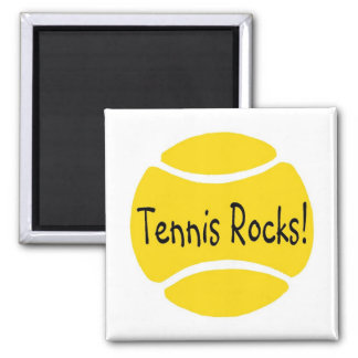 Tennis Rocks 2 Inch Square Magnet