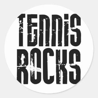 Tennis Rocks Classic Round Sticker
