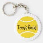 Tennis Rocks Key Chains
