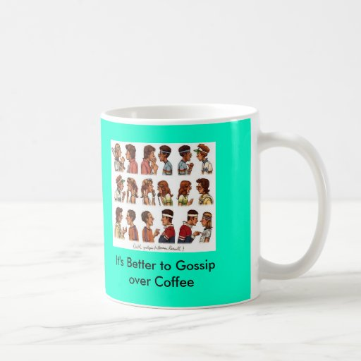 tennis_rockwell, es mejor cotillear sobre el café taza