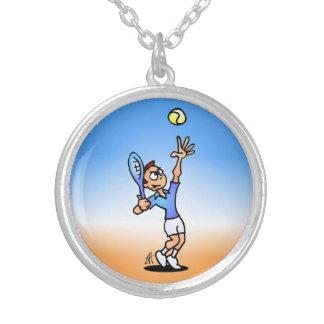 Tennis Round Pendant Necklace