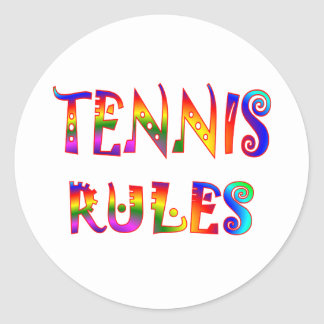Tennis Rules Classic Round Sticker