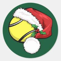 Tennis Santa Cap with Green Sticker