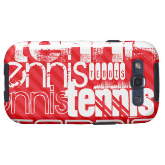 Tennis; Scarlet Red Stripes Samsung Galaxy S3 Covers