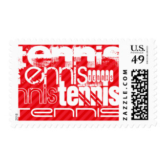 Tennis; Scarlet Red Stripes Postage