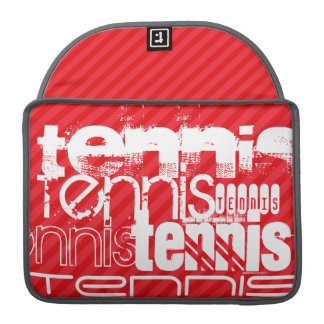 Tennis; Scarlet Red Stripes Sleeve For MacBook Pro