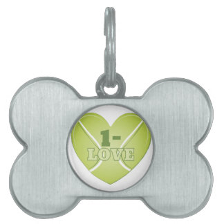 Tennis Score Pet Name Tag