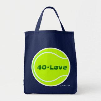 Tennis Score Points Tote Bag 40-Love