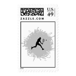 Tennis Scribble Style (Female) Postage
