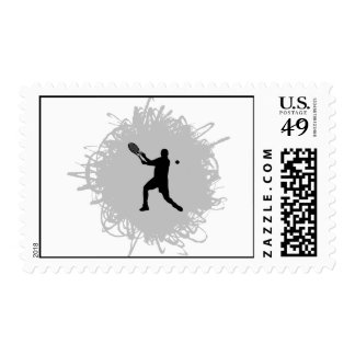 Tennis Scribble Style (Male) Postage