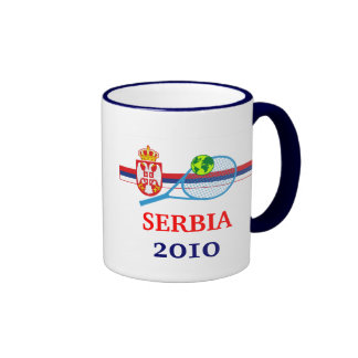 Tennis Serbia Ringer Coffee Mug